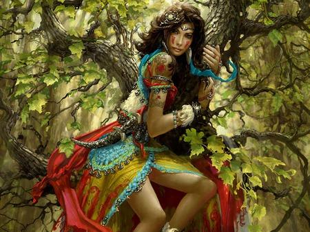 fantasy gypsy woman