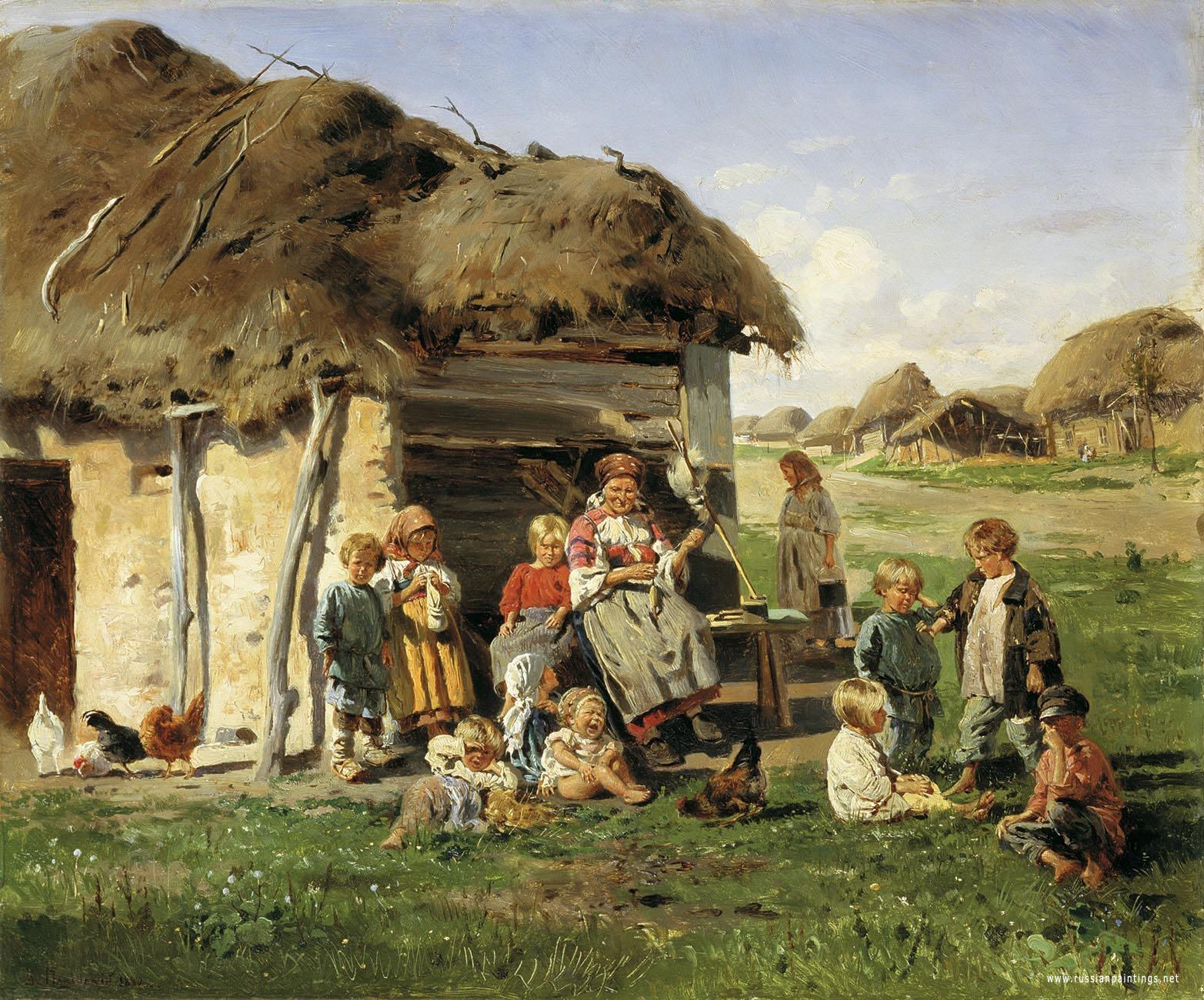 russianbare children